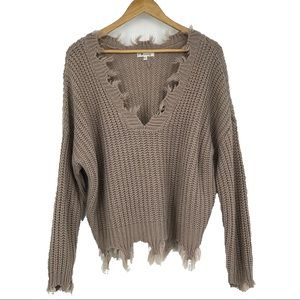 Miracle distressed sweater